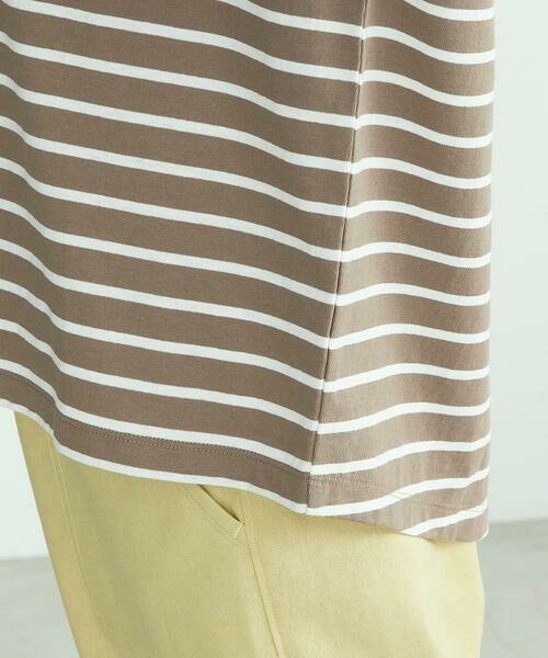 COMME CA ISM / コムサイズム Tシャツ | 〈オーガニックコットン〉バックスリットボーダー半袖Tシャツ | 詳細15