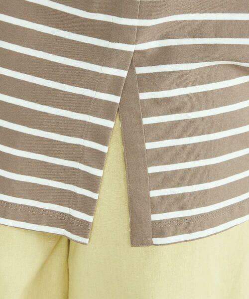 COMME CA ISM / コムサイズム Tシャツ | 〈オーガニックコットン〉バックスリットボーダー半袖Tシャツ | 詳細16