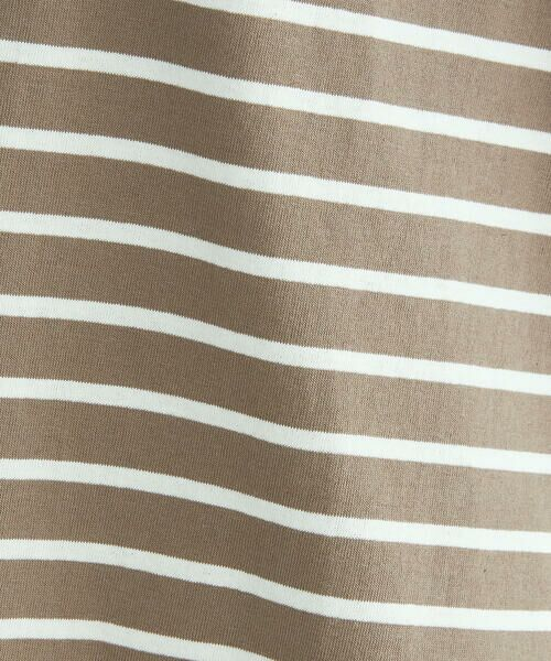 COMME CA ISM / コムサイズム Tシャツ | 〈オーガニックコットン〉バックスリットボーダー半袖Tシャツ | 詳細17