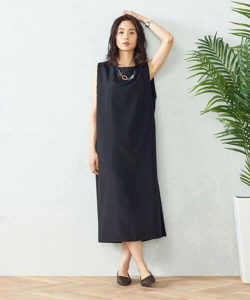 COMME CA ISM / コムサイズム ミニ丈・ひざ丈ワンピース | ノースリーブワンピース(ブラック)