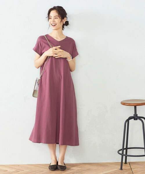 COMME CA ISM / コムサイズム ロング・マキシ丈ワンピース | Tシャツ ワンピース | 詳細1