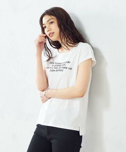 COMME CA ISM / コムサイズム Tシャツ | プリント Tシャツ(ホワイト)