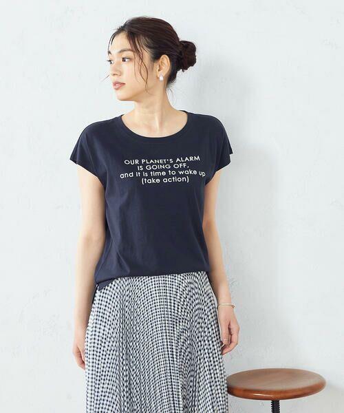 COMME CA ISM / コムサイズム Tシャツ | プリント Tシャツ(ネイビー)