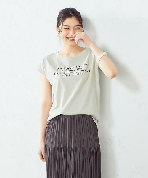 COMME CA ISM / コムサイズム Tシャツ | プリント Tシャツ(ミント)