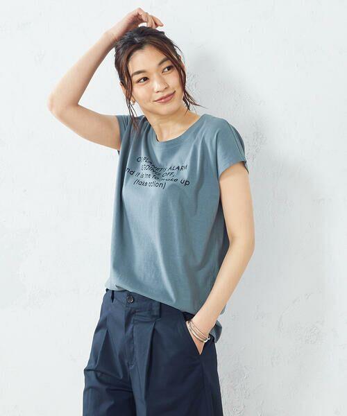 COMME CA ISM / コムサイズム Tシャツ | プリント Tシャツ(ターコイズ)