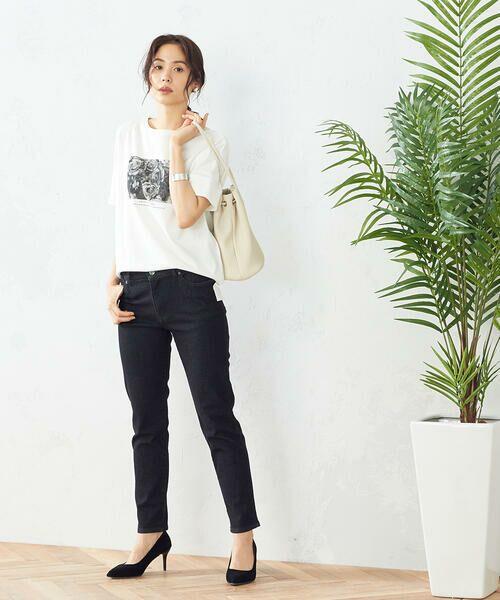 COMME CA ISM / コムサイズム Tシャツ   フォトプリント Tシャツ   詳細1