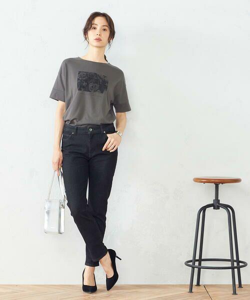 COMME CA ISM / コムサイズム Tシャツ   フォトプリント Tシャツ   詳細2