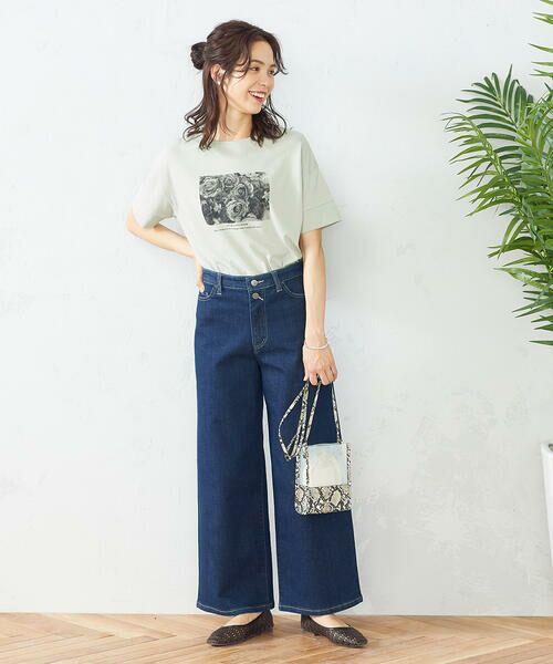 COMME CA ISM / コムサイズム Tシャツ   フォトプリント Tシャツ   詳細4