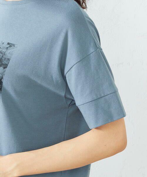 COMME CA ISM / コムサイズム Tシャツ   フォトプリント Tシャツ   詳細10