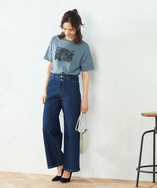COMME CA ISM / コムサイズム Tシャツ   フォトプリント Tシャツ   詳細5