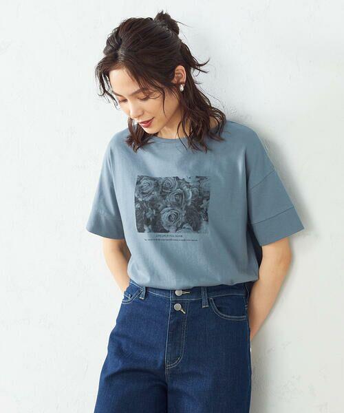 COMME CA ISM / コムサイズム Tシャツ   フォトプリント Tシャツ   詳細6