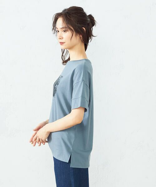 COMME CA ISM / コムサイズム Tシャツ   フォトプリント Tシャツ   詳細7