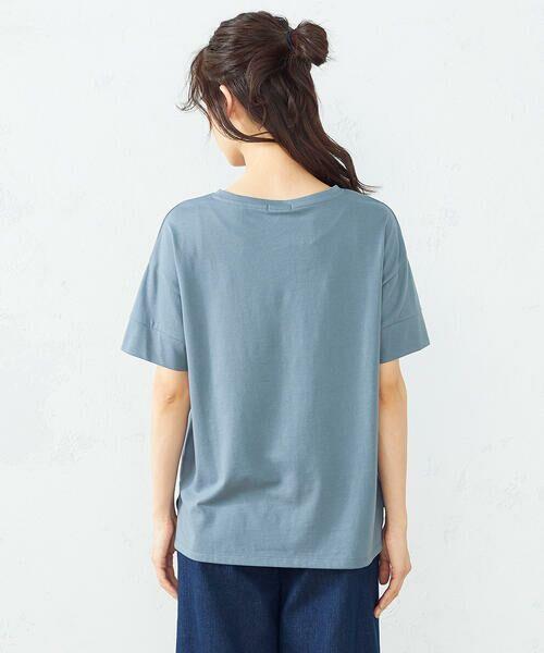 COMME CA ISM / コムサイズム Tシャツ   フォトプリント Tシャツ   詳細8