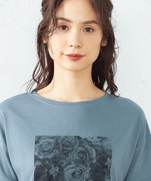 COMME CA ISM / コムサイズム Tシャツ   フォトプリント Tシャツ   詳細9