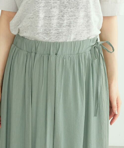 COMME CA ISM / コムサイズム ロング・マキシ丈スカート | ワッシャー加工 ギャザースカート | 詳細10