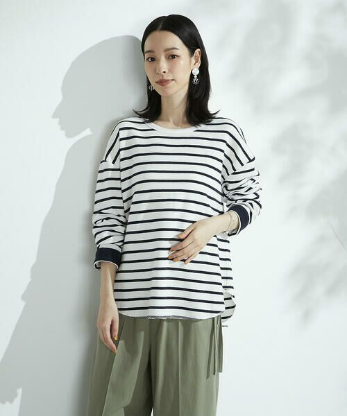 COMME CA ISM / コムサイズム カットソー | ボーダー ロングTシャツ | 詳細5