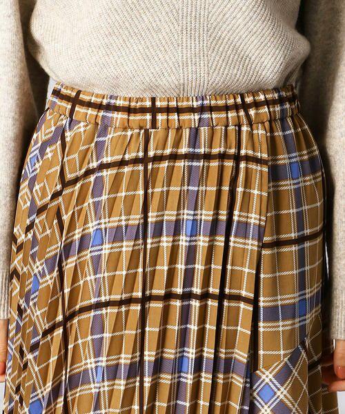 Comme ca Mature / コムサマチュア ロング・マキシ丈スカート | アシンメトリー チェックプリント スカート | 詳細5