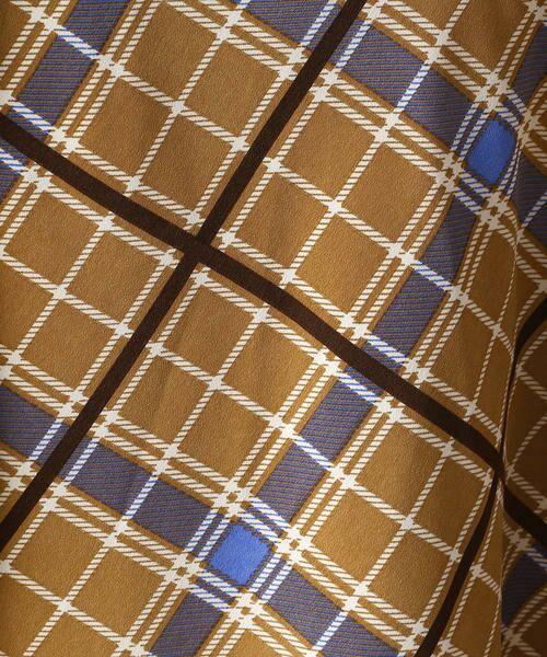 Comme ca Mature / コムサマチュア ロング・マキシ丈スカート | アシンメトリー チェックプリント スカート | 詳細7