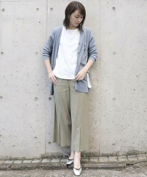 Comme ca Mature / コムサマチュア Tシャツ | シルケット風天竺 スパンコールロゴTシャツ | 詳細1
