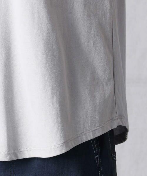 Comme ca Mature / コムサマチュア Tシャツ | シルケット風天竺 スパンコールロゴTシャツ | 詳細10