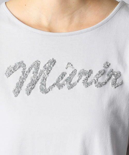 Comme ca Mature / コムサマチュア Tシャツ | シルケット風天竺 スパンコールロゴTシャツ | 詳細11