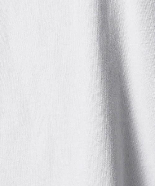 Comme ca Mature / コムサマチュア Tシャツ | シルケット風天竺 スパンコールロゴTシャツ | 詳細12