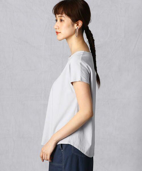 Comme ca Mature / コムサマチュア Tシャツ | シルケット風天竺 スパンコールロゴTシャツ | 詳細6