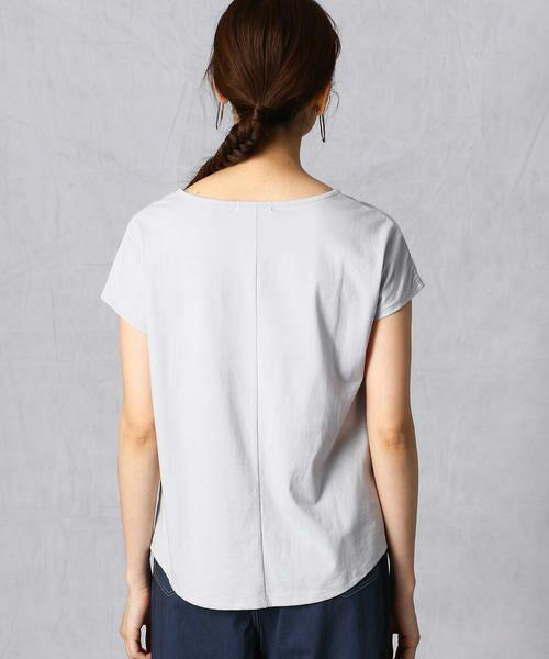 Comme ca Mature / コムサマチュア Tシャツ | シルケット風天竺 スパンコールロゴTシャツ | 詳細7