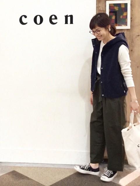 昨年もご好評頂きましたボアベストが入荷致しました!Mサイズを着用しております。Lサイズだと少し着丈が長くなります。  モデル身長:160~164cm