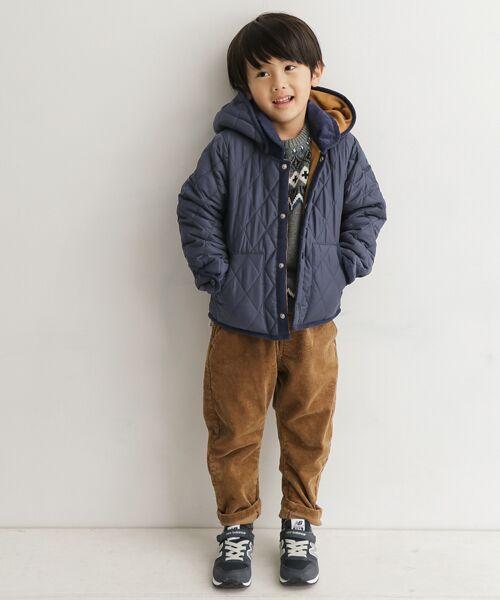軽く、さっと羽織りやすいので 小さなお子様でもストレスなくお使い頂ける キルトジャケットです☆