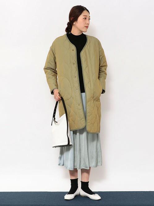 初春におすすめの休日スタイル   ニット(SIZE:フリー) コート(SIZE:38) スカート(SIZE:フリー)  170~174cm