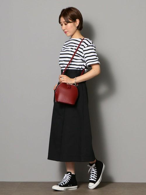 大人マリンスタイル  カットソー(SIZE:FREE) スカート(SIZE:36) シューズ(SIZE:25cm)  Model:160~164cm