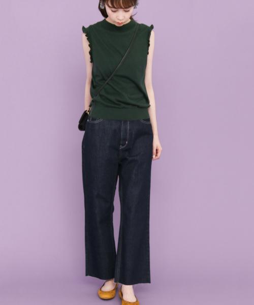 37fdc3e3399e1 デニムパンツを使ったKBFのレディースファッションコーディネート一覧 ...