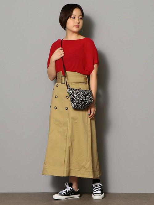 チノ×レッド  ニット(SIZE:FREE) スカート(SIZE:36)  Model:155~159cm