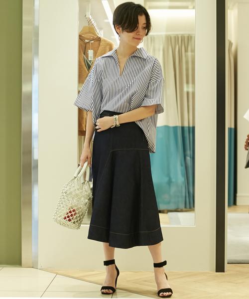 50998c8231a74 TOMORROWLANDスタッフのシャツ・ブラウスを使ったレディースファッションコーディネート