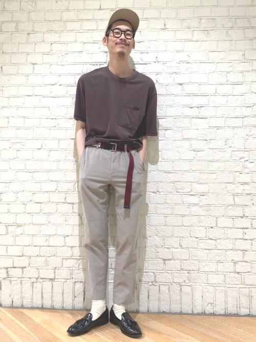 6e7cf0a9040318 green label relaxingスタッフのTシャツを使ったメンズファッションコーディネート   NO: