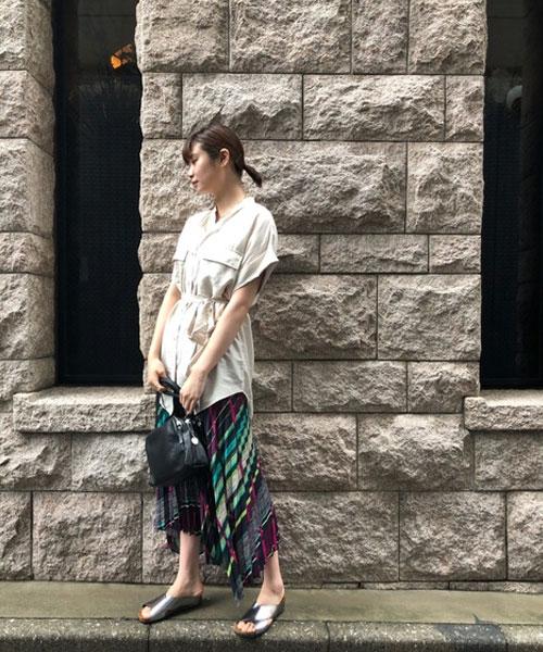 ローズバッドらしい配色のスカートがポイントです◎
