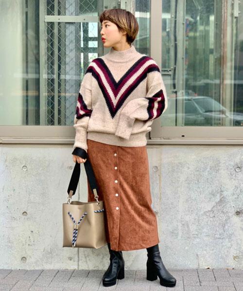 ニット・セーターを使ったレディースコーデ   ROSE BUD