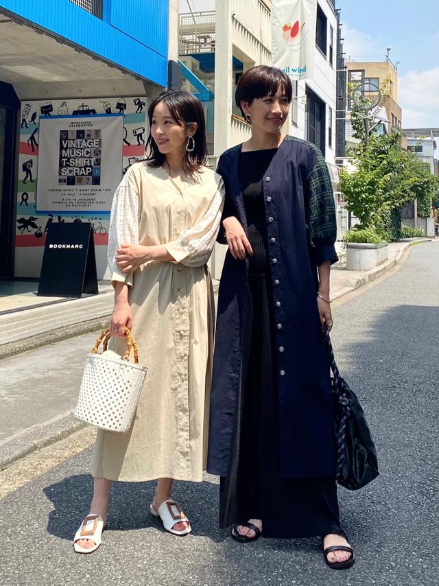 プレスのきょうこさんと双子コーデ。HARUKA:151cm KYOKO:160cm