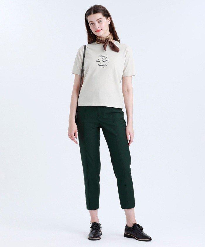 コーディネートに抜け感をプラスするTシャツ。ややゆとりを持たせたシルエットのメッセージTシャツです。コロナ禍の今だからこそのポジティブなメッセージにこだわりプリントしました。