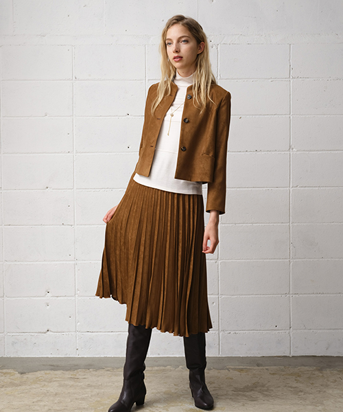 【リリアンビューティエクラ】【小さいサイズ】 ワントーンコーディネートで季節感を感じて しなやかで女性らしいスエード調素材で着こなして