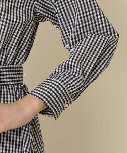 Couture Brooch / クチュールブローチ ミニ丈・ひざ丈ワンピース   【WEB限定サイズ(S・LL)あり】【洗える】サッシュベルト付きシャツワンピース   詳細6