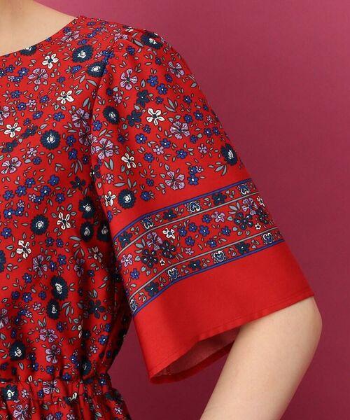 Couture Brooch / クチュールブローチ ミニ丈・ひざ丈ワンピース | 【手洗い可】レトロフラワーワンピース | 詳細5