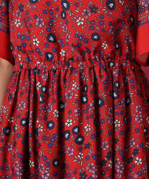 Couture Brooch / クチュールブローチ ミニ丈・ひざ丈ワンピース | 【手洗い可】レトロフラワーワンピース | 詳細6