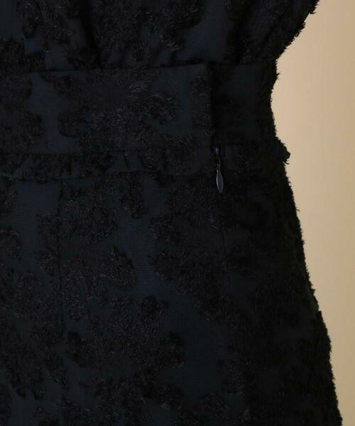 Couture Brooch / クチュールブローチ ミニ・ひざ丈スカート | 【WEB限定サイズ(LL)あり/手洗い可】カットジャガードミモレ丈スカート | 詳細4