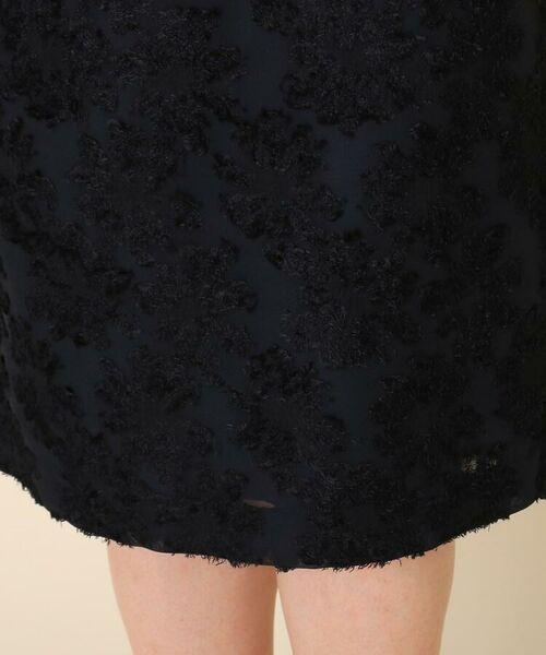 Couture Brooch / クチュールブローチ ミニ・ひざ丈スカート | 【WEB限定サイズ(LL)あり/手洗い可】カットジャガードミモレ丈スカート | 詳細5