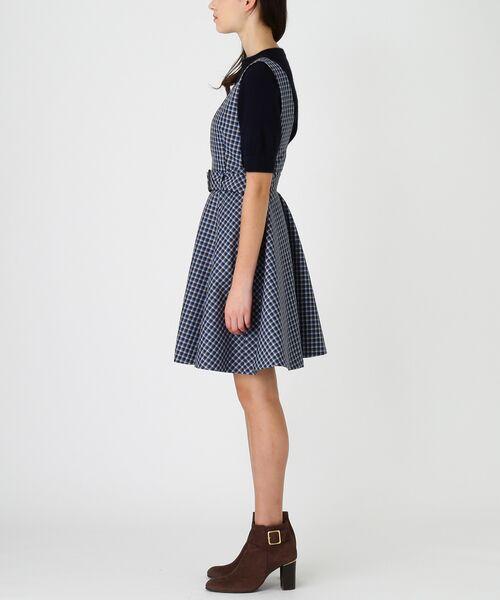 BLUE LABEL / BLACK LABEL CRESTBRIDGE / ブルーレーベル / ブラックレーベル・クレストブリッジ  ドレス | ブリットチェックジャンパードレス | 詳細1