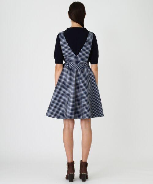 BLUE LABEL / BLACK LABEL CRESTBRIDGE / ブルーレーベル / ブラックレーベル・クレストブリッジ  ドレス | ブリットチェックジャンパードレス | 詳細2
