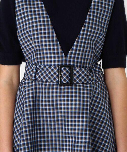 BLUE LABEL / BLACK LABEL CRESTBRIDGE / ブルーレーベル / ブラックレーベル・クレストブリッジ  ドレス | ブリットチェックジャンパードレス | 詳細4