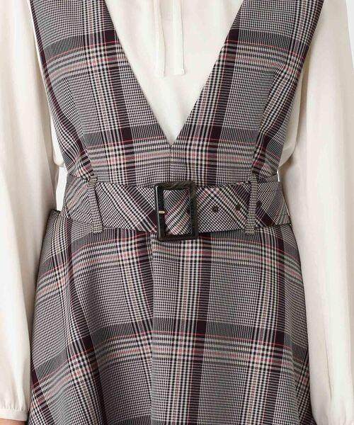 BLUE LABEL / BLACK LABEL CRESTBRIDGE / ブルーレーベル / ブラックレーベル・クレストブリッジ  ドレス | ブリットチェックジャンパードレス | 詳細10